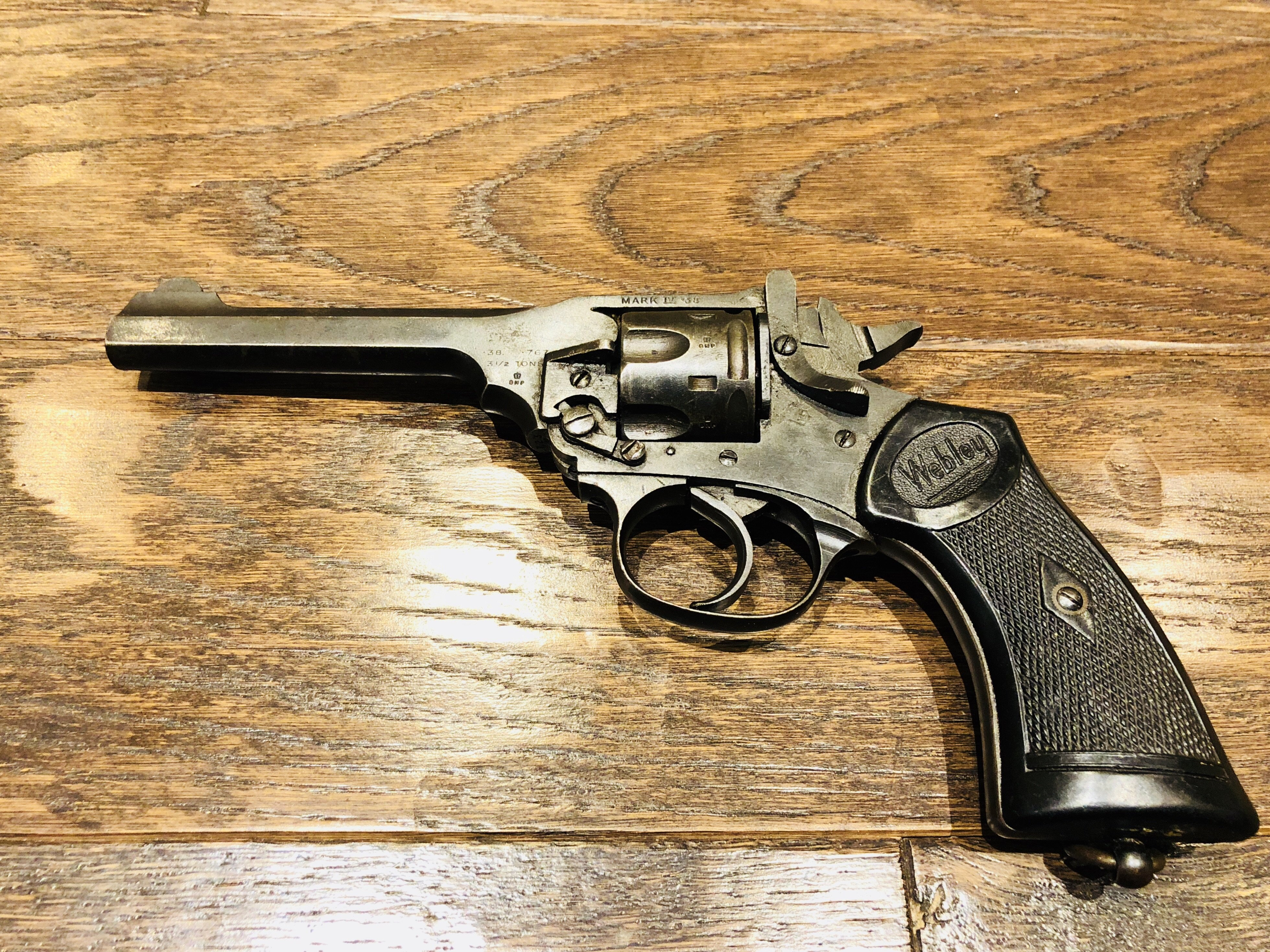 WEBLEY & SCOTT .38 S&W MARK IV LONG BARREL