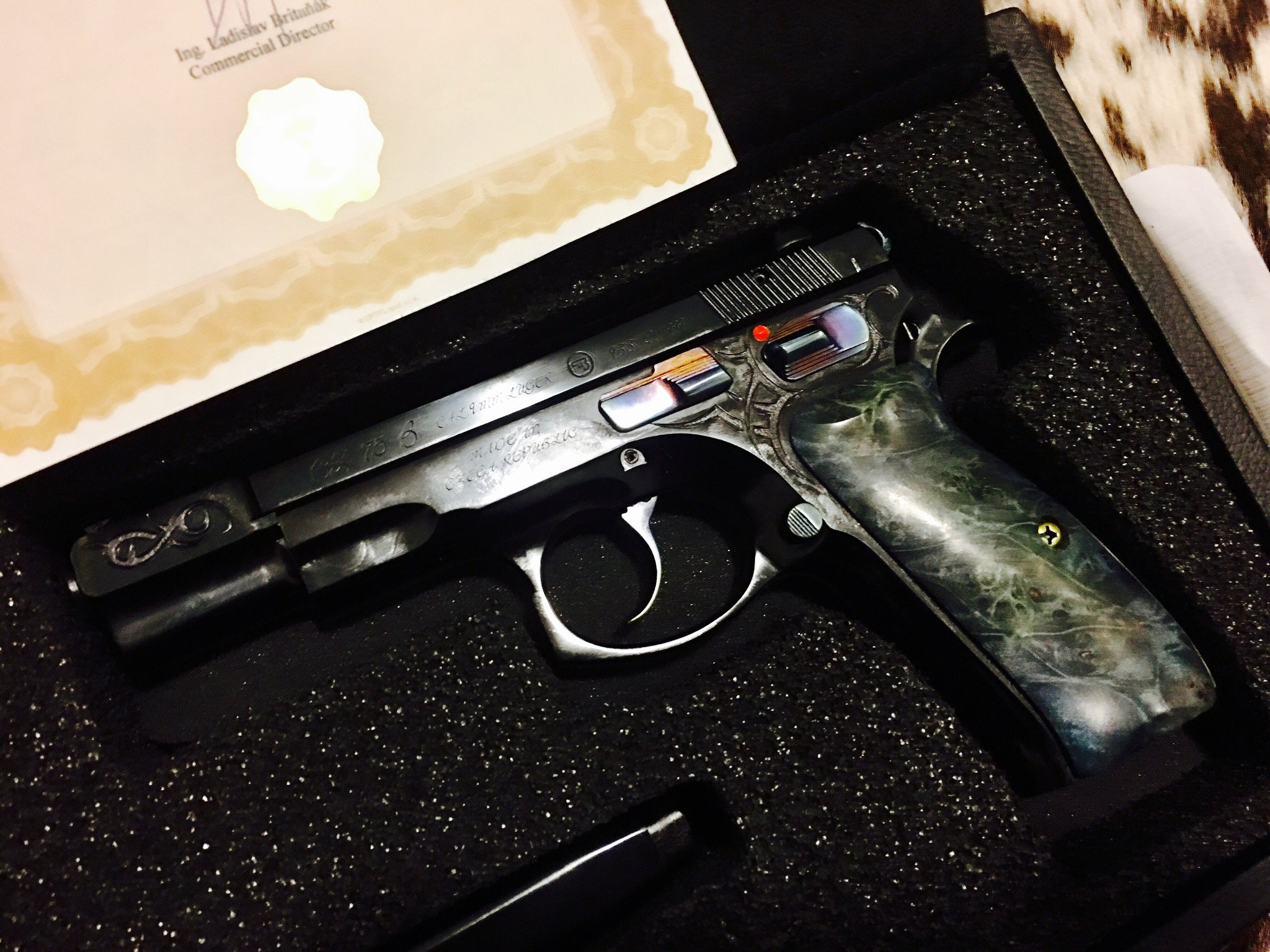 CZ 75 B 9mm 40TH ANNIVERSARY