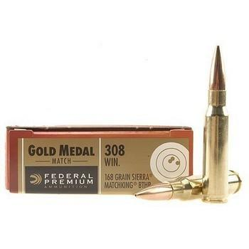 FEDERAL  GOLD MEDAL MATCH c.308 168GR. SIERRA MATCH KING BTHP 20RD box