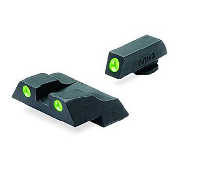 Meprolight Glock G26, G27 G/G Fixed Set Tru-Dot Night Sights