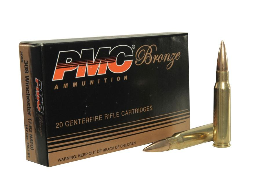 PMC c.308 WIN (7.62 NATO) 147GR FMJ-BT. 500RDS