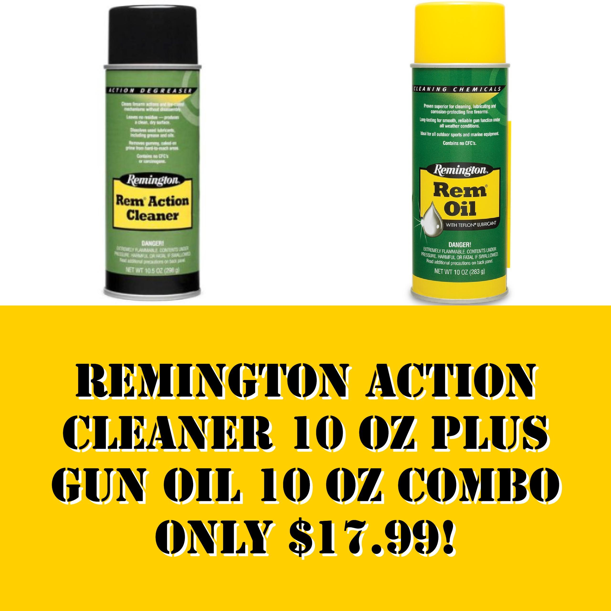 REMINGTON ACTION CLEANER 10 oz PLUS GUN OIL 10 oz COMBO