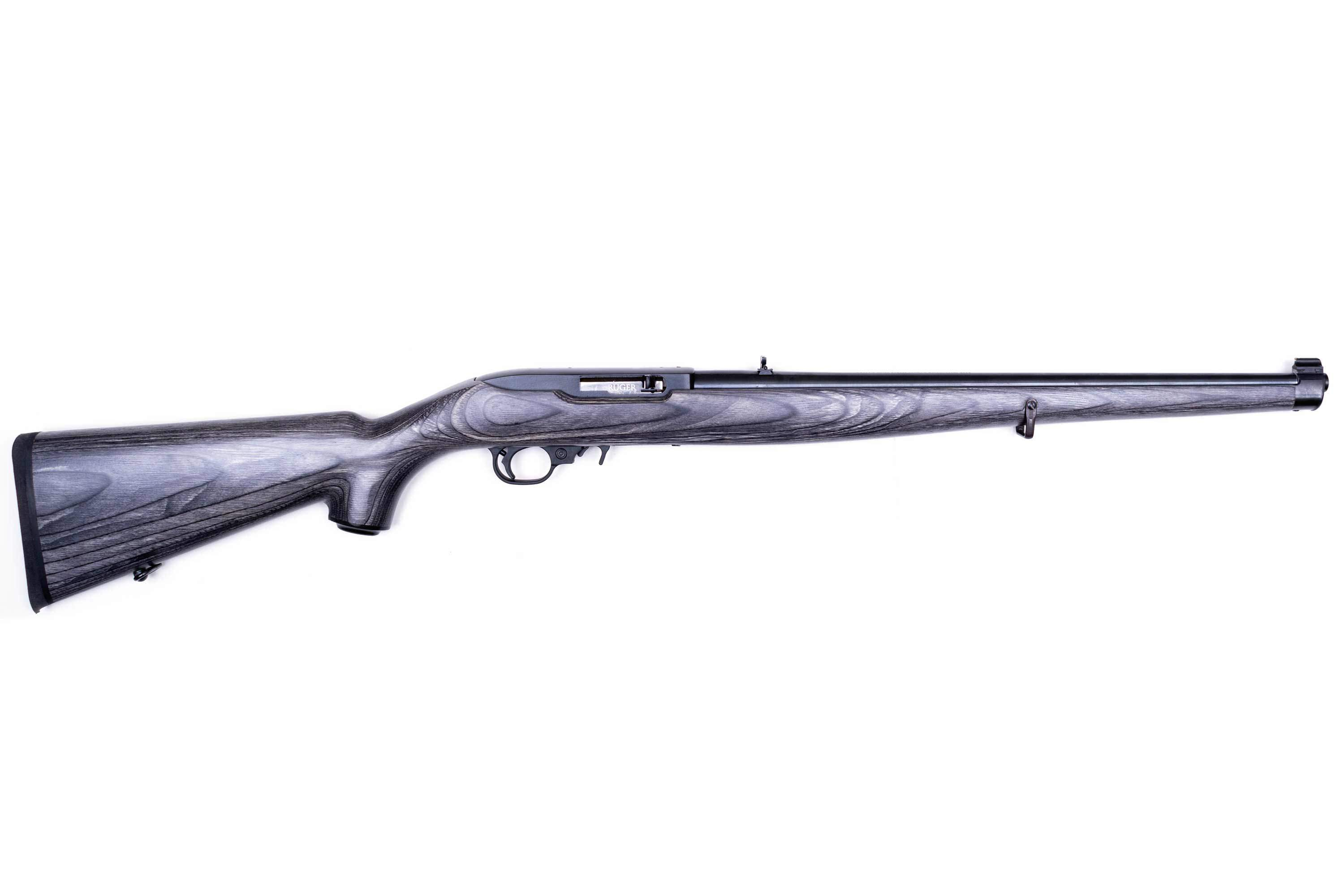 RUGER 1022 c.22 LR Black Laminate Mannlicher, Blued Carbine