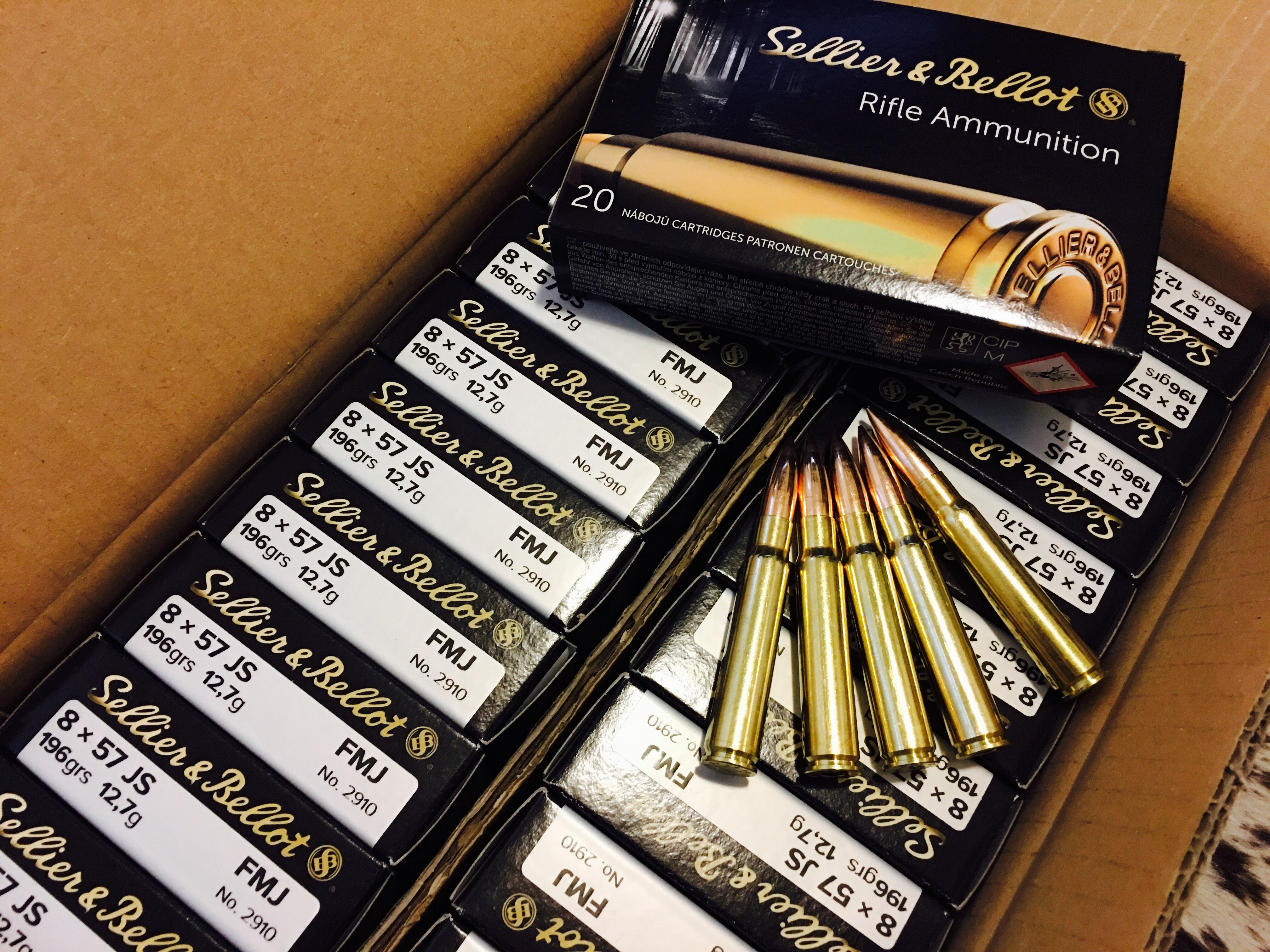 Sellier & Bellot 8x57 JS 196GR FMJ 8mm mauser