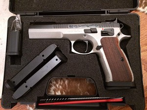 CZ 75 Tactical Sport  9mm Luger, dual tone, 9mm, 10 Round Pistol
